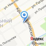 Автошкола на карте Барнаула