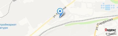 ПСК на карте Барнаула