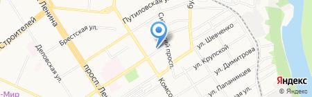 Аварийно-диспетчерская служба Город на карте Барнаула
