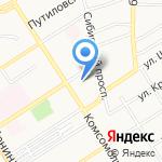Администрация Октябрьского района на карте Барнаула