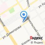 Краевая клиническая больница скорой медицинской помощи на карте Барнаула