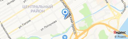 Акцент-Сервис на карте Барнаула