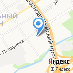 Фиона на карте Барнаула