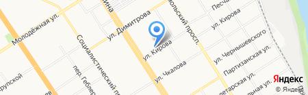 Олимпийский на карте Барнаула