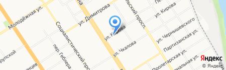 Сонар на карте Барнаула