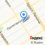 На Соборной на карте Барнаула
