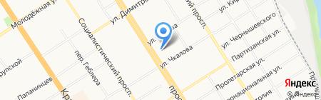 Алтайский букет на карте Барнаула