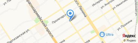 ТЕХНОСЕРВИС на карте Барнаула