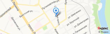 Аптека №132 на карте Барнаула