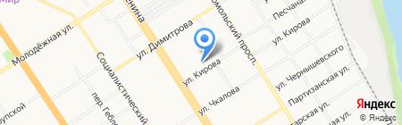 Алмпас на карте Барнаула