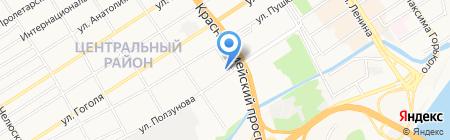 Демидов на карте Барнаула