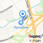 Азбука мебели на карте Барнаула