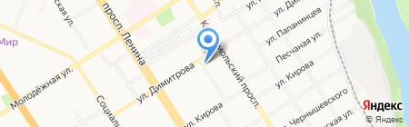 Строитель кадровый центр на карте Барнаула