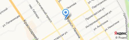 Мемориальная библиотека им. В.М. Башунова на карте Барнаула