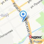 Алтайский Союз Предпринимателей на карте Барнаула