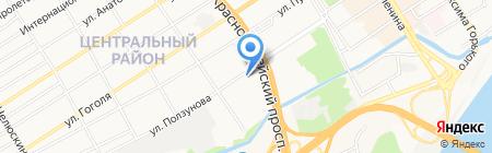 АвтоРеванш на карте Барнаула