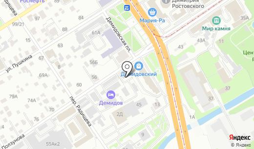 Гастроном. Схема проезда в Барнауле