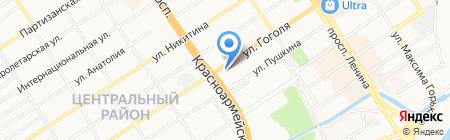 Банкомат АКБ Авангард на карте Барнаула