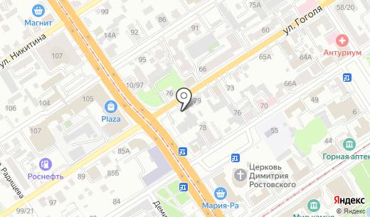АКБ Авангард. Схема проезда в Барнауле