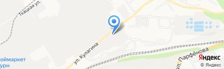 Авто-вектор на карте Барнаула