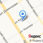 Тверк на карте Барнаула