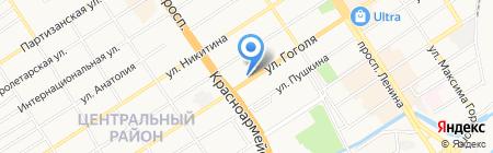 Алтай-Шина на карте Барнаула