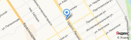 Сибирячка на карте Барнаула