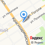 АКБ Авангард на карте Барнаула