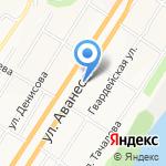 Янтарный на карте Барнаула