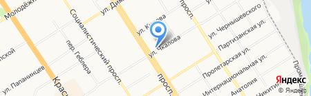 Шаверма на карте Барнаула