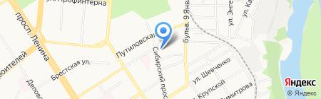 Алтайский краевой колледж культуры на карте Барнаула