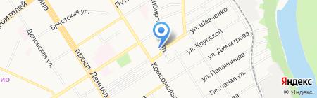 Алтайский государственный театр музыкальной комедии на карте Барнаула