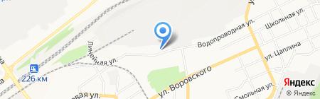 Рубеж на карте Барнаула