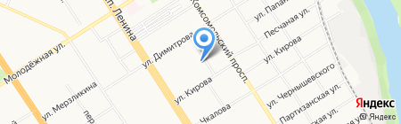 Поиск на карте Барнаула