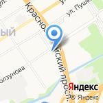 Шторный Бум на карте Барнаула