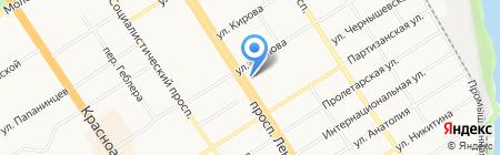 Свято-Никольская церковь на карте Барнаула