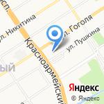 Алтай-контракт на карте Барнаула