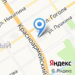 Чебуречная на карте Барнаула