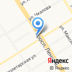 Пять звезд на карте Барнаула
