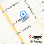 Унивет на карте Барнаула