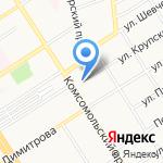 Платежный терминал на карте Барнаула