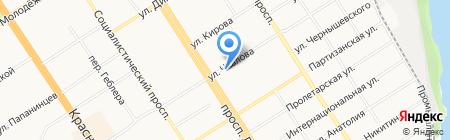 Фармед на карте Барнаула