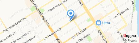 Роси на карте Барнаула