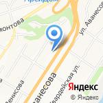 Детский сад №21 на карте Барнаула