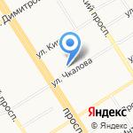 Студия йоги на карте Барнаула
