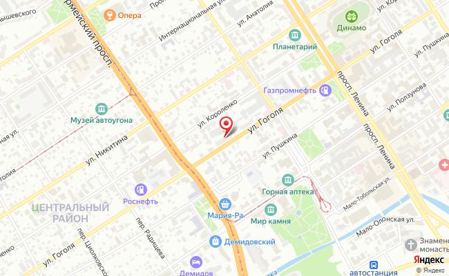 Карта расположения пункта доставки Пункт выдачи ONEOUTPOST в городе Барнаул