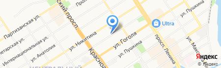 Центральное на карте Барнаула