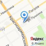 Хадар на карте Барнаула