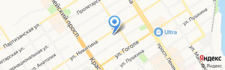 Алтайский краевой онкологический диспансер на карте Барнаула