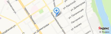 АГМУ на карте Барнаула